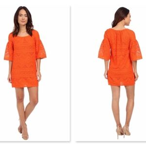 Trina Turk Lev Dress Orange 4